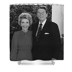 Ronald And Nancy Reagan Shower Curtain by War Is Hell Store