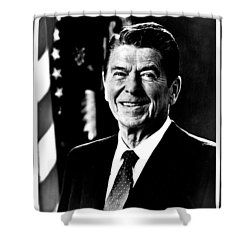 Ronald Reagan Shower Curtain by Benjamin Yeager