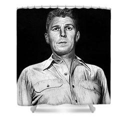 Ronald Regan Shower Curtain by Peter Piatt