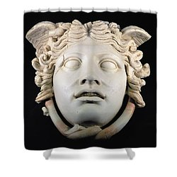 Rondanini Medusa, Copy Of A 5th Century Bc Greek Marble Original, Roman Plaster Shower Curtain by .