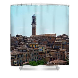 Roofs Of Siena Shower Curtain
