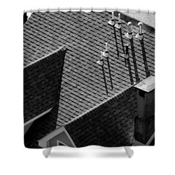 Shower Curtain featuring the photograph Rooftop by John Schneider