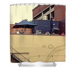 Rooftop Lunch Shower Curtain by Paulette B Wright