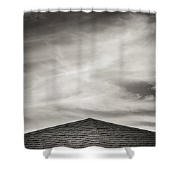 Shower Curtain featuring the photograph Rooftop Sky by Darryl Dalton