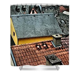 Shower Curtain featuring the photograph Rooftops by Nick  Biemans