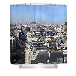Rooftops Of Paris Shower Curtain by Thomas Marchessault