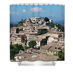 Rooftops Of The Italian City Shower Curtain by Dany Lison
