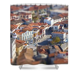 Shower Curtain featuring the photograph Rooftops by Vicki Spindler