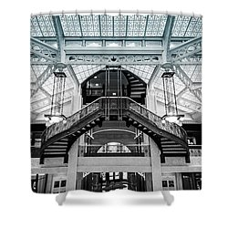 Rookery Building Atrium Shower Curtain