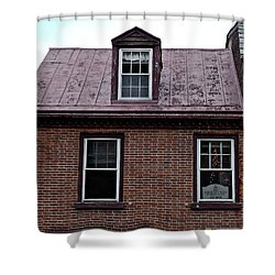 Room With A Red Tin Roof Shower Curtain by Richard Reeve
