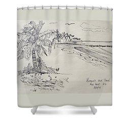 Roosevelt Blvd Beach  Key West Fla Shower Curtain
