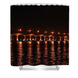 Shower Curtain featuring the photograph Roosevelt Bridge Panorama by Olga Hamilton