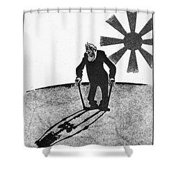 Roosevelt Cartoon, 1941 Shower Curtain by Granger