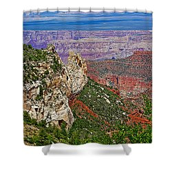 Roosevelt Point Two On North Rim/grand Canyon National Park-arizona   Shower Curtain