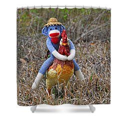 Rooster Rider Shower Curtain
