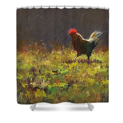 Rooster Strut Shower Curtain