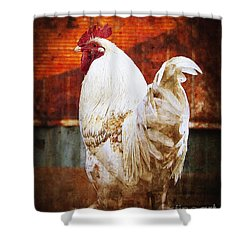 Rooster With An Attitude Shower Curtain by Lee Craig