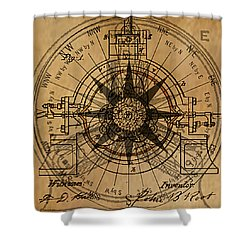 Root Patent I Shower Curtain by James Christopher Hill