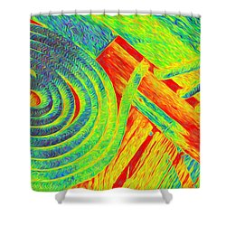 Rope Abstract Shower Curtain