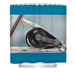 Rope And Pulley Shower Curtain