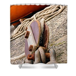 Ropes And Chains Shower Curtain by Terri Waters
