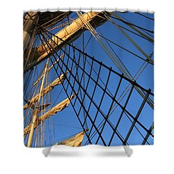 Ropes And Flags Shower Curtain