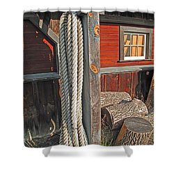 Ropes And Woods Shower Curtain by Barbara McDevitt