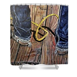 Roping Boots Shower Curtain