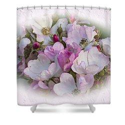 Rosa Shower Curtain by Elaine Teague