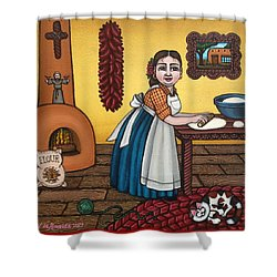 Rosas Kitchen Shower Curtain