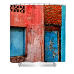 Rosa's Place Shower Curtain by Skip Hunt