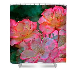 Rose 203 Shower Curtain by Pamela Cooper