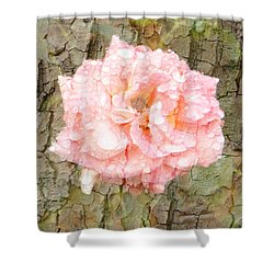 Rose Bark Shower Curtain by Amanda Eberly-Kudamik
