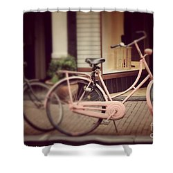 Rose Bike Shower Curtain