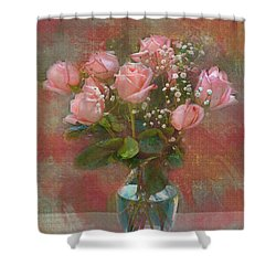 Rose Bouquet Shower Curtain