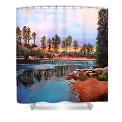 Rose Canyon Lake 2 Shower Curtain by M Diane Bonaparte