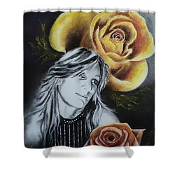 Rose Shower Curtain by Carla Carson