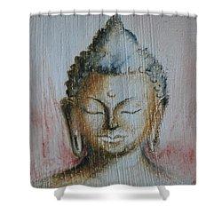 Rose Chakra Buddha Miniature Shower Curtain