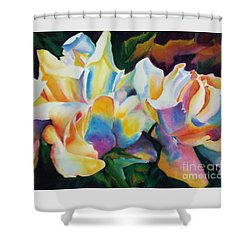 Rose Cluster Half Shower Curtain