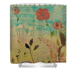 Rose Colored Path Shower Curtain by Robin Maria Pedrero