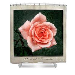 Rose Congratulations Shower Curtain