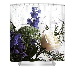 #rose #flowers Shower Curtain by Jennifer Beaudet