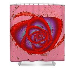 Rose Heart Shower Curtain by Anastasiya Malakhova
