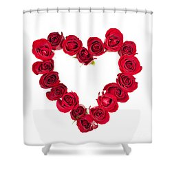 Rose Heart Shower Curtain by Elena Elisseeva