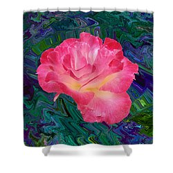 Rose In The Matter Of Your Hand V7 Shower Curtain