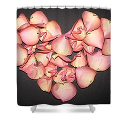 Rose Petals Heart Shower Curtain