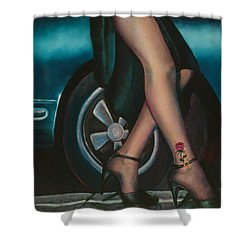Rose Tattoo Shower Curtain by Mary Ann  Leitch