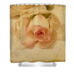 Shower Curtain featuring the photograph Rose With Vintage Feel by Sandra Foster