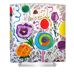 Roses And Lollipops For Mom Shower Curtain