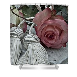 Shower Curtain featuring the photograph Roses And Tassels by Sandra Foster